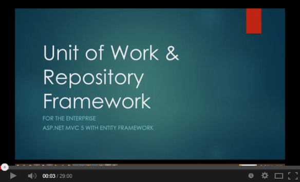 Generically Implementing the Unit of Work & Repository