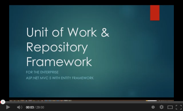 Generically Implementing the Unit of Work & Repository Pattern with